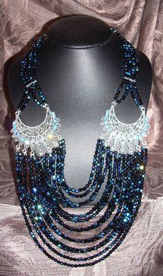 Colliers courts, collier court : Merveille de Bohême est une création orginale de petit-magaz sur DaWanda Creations, Beaded Necklace, Jewelry, Fashion, Short Necklace, Bead, Beaded Collar, Moda, Jewlery