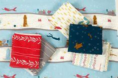Jay-Cyn Designs for Birch Organic Fabrics, Beyond the Sea, Kelp Dive