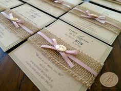 love everything about this! burlap, ribbon, kraft paper love love love