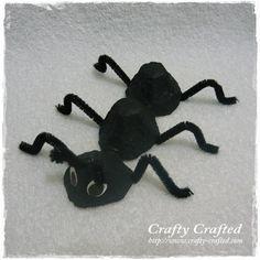 egg carton crafts ant