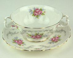Cream Soup Bowl w Saucer Royal Albert Tranquillity | eBay