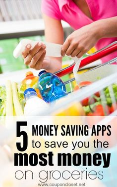 Here are the BEST Money Saving Apps for the Grocery Store - these easy apps will have you save more money without ever clipping a coupon!
