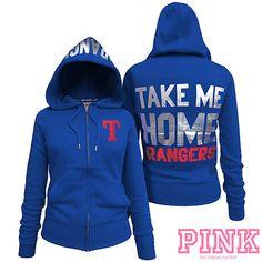 Texas Rangers Victoria's Secret PINK® Full Zipper Hoodie - MLB.com Shop