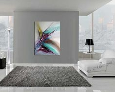 Large Wall Art ABSTRACT PAINTING Acrylic Wall par largeartwork