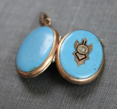 Large Victorian Turquoise Enamel and Seed by TheHiddenChamber