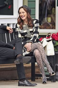 I am positive I have those tights! I think it's safe to say, I love everything she wears on this show