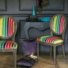 69 - Photo de tissu pour siège en vente à l'atelier - BARBARA PICAUD TAPISSIER DECORATEUR
