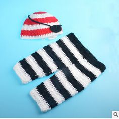 >> Click to Buy << Newborn Baby Knitted Photography Props Hat Clothing Set Infant Baby Handmade Knit Crochet Pirates Costume Clothing Outfits #Affiliate