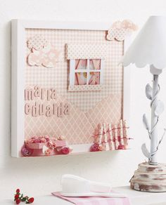 Quadro infantil de scrap decor
