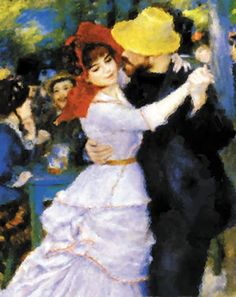 Renoir. What I love about this is how the ordinary people dance with passion and love.