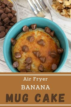 This Air Fryer Banana Mug Cake is a quick, easy dessert that is perfectly baked every time. Moist, packed with flavor, and deliciously sweet. #mugcake #bananacake Cake Recipes, Dessert Recipes, Party Recipes, Banana Mug Cake, Barbecue Recipes, Pinterest Recipes, Air Fryer Recipes, Slow Cooker Recipes, Easy Desserts