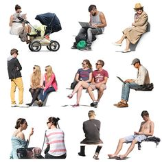 Texture psd sit sitting people