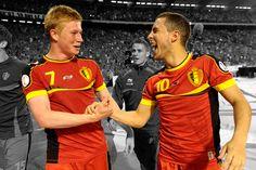 Hazard & de Bruyne (Chelsea FC / Belgian Red Devils duo) wallpaper