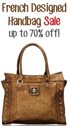 French Designed Handbag Sale: up to 70% off!! #purses #thefrugalgirls