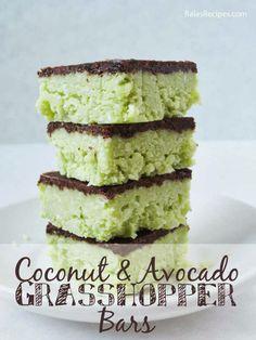 Coconut & Avocado Grasshopper Bars #RaiasRecipes