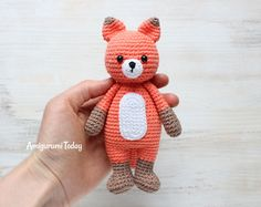 Лисенок-обнимашка - схема вязаной игрушки