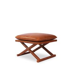 Leather X Stool - Antique Brown | Benches and Stools | Seating | Selamat Designs | Interior Design Ideas