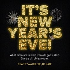 Donate to charity: water and join us in our mission to end the water crisis. of your donation brings clean water to people in need. International Development, People In Need, Donate To Charity, Sparkles Glitter, Good Cause, Non Profit, New Years Eve, Fundraising, Cleaning