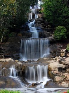 Cascading Waterfall, Robinson, Pennsylvania | See More Pictures