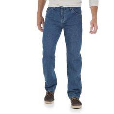 Wrangler Big Men's Regular Fit Jeans, Size: 58 x 32, Gray