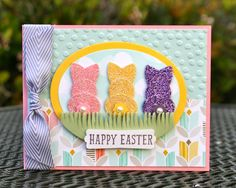 Krystal's Cards: I LOVE MY STAMPIN' UP! PEEPS!! Easter Punch Art Tutorial #stampinup #krystals_cards #easterpeeps #punchart #eastercard #sendacard #papercrafts #handstamped #stampsomething #cardmaking