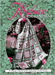 afghan enchantment retro #crochet book