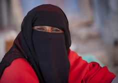 Portrait Of A Woman Wearing A Niqab, Boorama, Somaliland | by Eric Lafforgue Photography