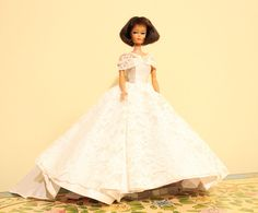 1960's Halina's Doll Fashions of Chicago Wedding Gown - Tagged