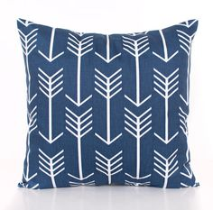 Arrow Throw Pillow Covers Navy and Gray Throw by PoutySprouts