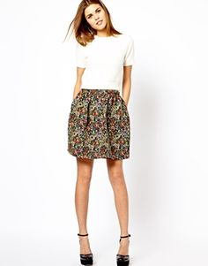 A Wear Tapestry Skater Skirt-like the whole look