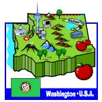 Washington is home to so much natural beauty. It is also rich in history and culture. The state symbols of Washington are an important part of both. To make it fun to learn, kids can play games to learn that the Coast Rhododendron is the state flower and the Western Hemlock is the state tree. The Evergreen State has never been more interesting! Have fun learning about the state of Washington!!