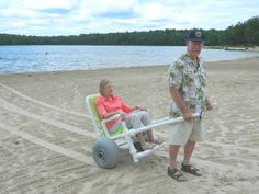 Sand Chariot: Get Out There - best beach wheelchair on the market!! My grandparents love it!