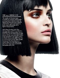 Smokey brown eyes - The Faces Beauty Ed from Harrods Mag A/W 12