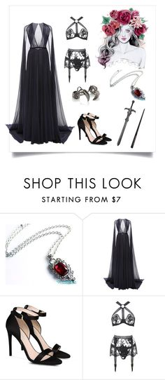 """""""Evil queen"""" by maca-arrue-riofrio ❤ liked on Polyvore featuring Naeem Khan, STELLA McCARTNEY and Agent Provocateur"""