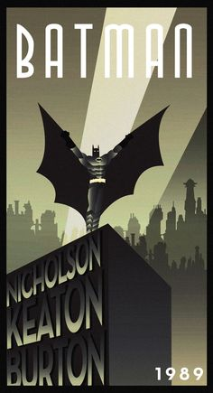Batman art deco movie poster...for taylors man cave