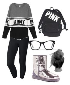 Lazy day by indiebaby9 on Polyvore featuring polyvore fashion style NIKE UGG Australia Victoria's Secret Spitfire