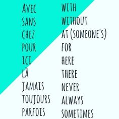 Some very useful words (Source: selfrench) - Dehily Basic French Words, How To Speak French, Learn French, Learn English, French Verbs, French Phrases, French Quotes, French Language Lessons, French Language Learning