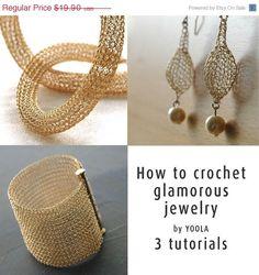 SALE 20 ends Oct 22 How to wire crochet glamorous jewelry von Yoola