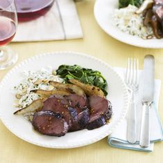 Duck Breast with Balsamic Pears