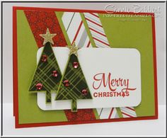 Lots of Joy for the Create with Connie and Mary Sketch Challenge this week...come play along!  Christmas, Trees, Stampin' Up!, #stampinup, created by Connie Babbert, www.inkspiredtreasures.com