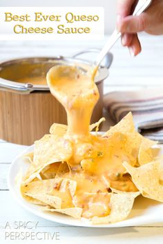 Cheese sauce makes or breaks any nacho recipe. The Best Queso Cheese Sauce recipe is easy and flavorful, with sharp and smoky notes. Drizzle over tortilla