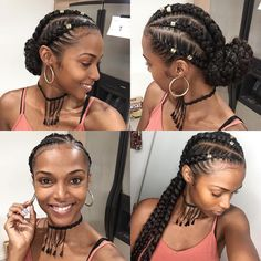 pitre Christmas Braids, Yes please!Tutorial coming soon❤️❤️ Kersti Anear.pitre Christmas Braids, Yes please!Tutorial coming soon❤️❤️Kersti Anear.pitre Christmas Braids, Yes please!Tutorial coming soon❤️❤️ Box Braids Hairstyles, Girl Hairstyles, Protective Hairstyles, Protective Styles, Hairstyles 2018, Goddess Hairstyles, Braided Hairstyles For Black Hair, Natural Cornrow Hairstyles, Hairstyles Games