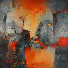 """""""Cuando el cuadro sucede"""" - Heriberto Zorrilla - oleo y acrilico, 200 x 200, 2002 www.esencialismo.com"""
