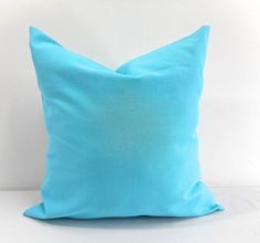 Mandarin Blue Pillow cover in dyed Solid  print.Free Shipping.Cotton.Select size #Handmade