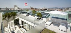 Terrace 7th floor Penthouse Suite, Vienna, Terrace, Flooring, Park, Building, Construction, Patio, Porch