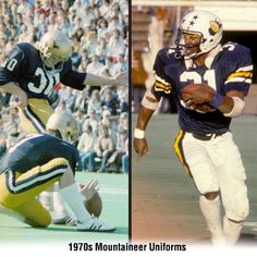 #WVU uniforms in the 1970s