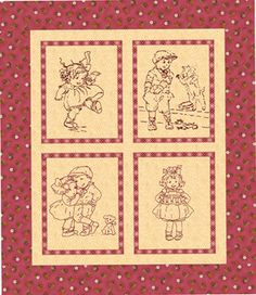 Little Darlings Redwork & Stitchery Quilt