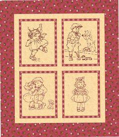 Little Darlings Redwork & Stitchery Quilt