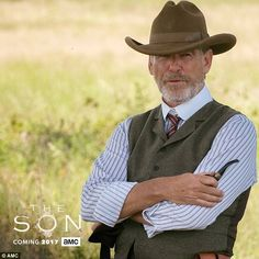Period piece: Pierce plays Eli McCullough in the upcoming AMC series, The Son...