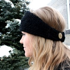Knitted headband ear warmer free shipping by ShellBellDesign
